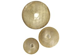 36 Inch, 27 Inch, 21 Inch Gold Iron Wall Decor Set Of 3