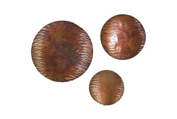 Bronze Iron Wall Decor Set Of 3