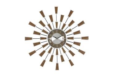 22X22 Brown Iron Wall Clock