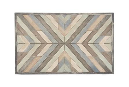 32X20 White Chinese Fir Wood Wall Decor - Main