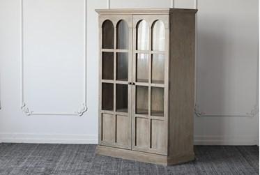Weathered Natural Elm Radius 2 Door Tall Cabinet