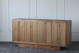 Natural Reclaimed Pine + Poplar 4 Door Sideboard