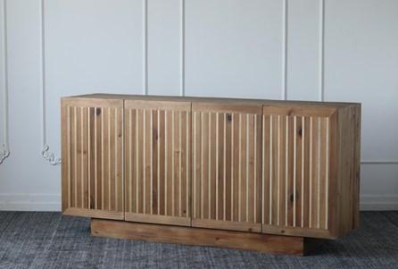 Natural Reclaimed Pine + Poplar 4 Door Sideboard - Main