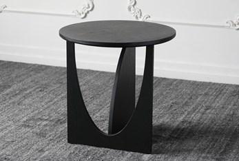 Black Oak Cutout Accent Table
