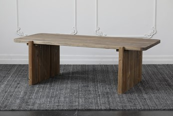 Ribbed Natural Reclaimed Pine Coffee Table