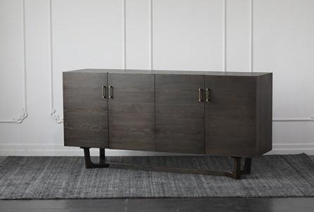 Umber Oak 4 Door Sideboard - Main