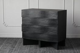 Wavy Black Accent Cabinet