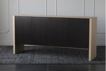 Modern Two-Tone Oak Sideboard