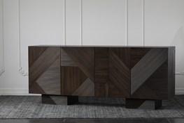 Geometric Reeded Reclaimed Pine Sideboard