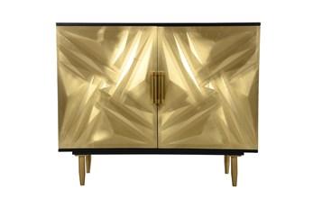 Gold multi Dimension Cabinet