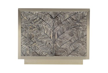 Bone Inlay Palm Print Cabinet
