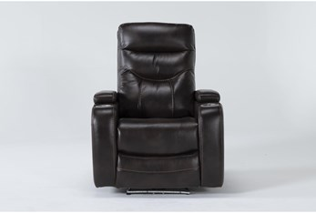 Bronson Truffle Home Theater Power Wallaway Recliner With Power Headrest