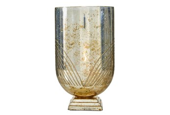 """10"""" Copper Glass Candle Holder"""