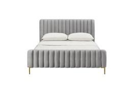 Lisette Grey Velvet Full Bed