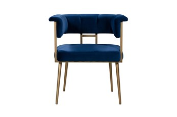 Greta Navy Velvet Dining Chair