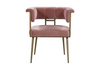 Greta Blush Velvet Dining Chair