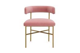 Corrine Blush Performance Velvet Dining Chair