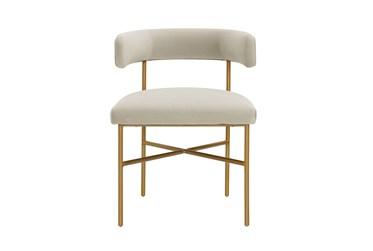 Corrine Cream Performance Velvet Dining Chair