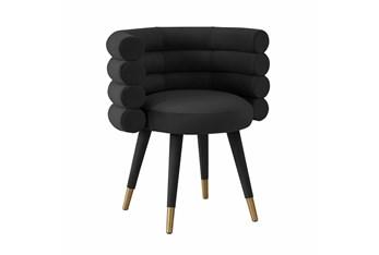 Brigitte Black Velvet Dining Chair