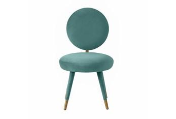 Viola Sea Blue Velvet Dining Chair