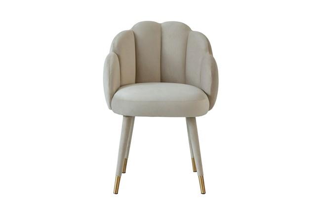 Rita Light Grey Velvet Dining Chair - 360