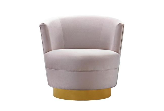 Florence Blush Velvet Swivel Accent Chair - 360