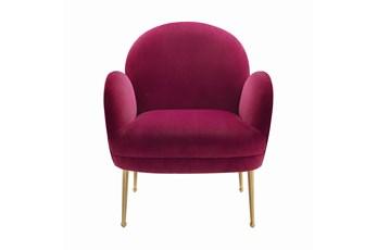 Constance Plum Velvet Accent Chair