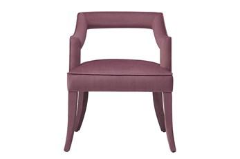 Natasha Pink Slub Velvet Dining Chair