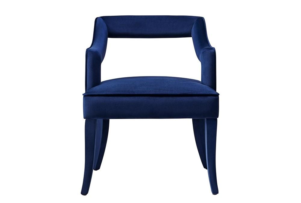 Natasha Navy Velvet Dining Chair