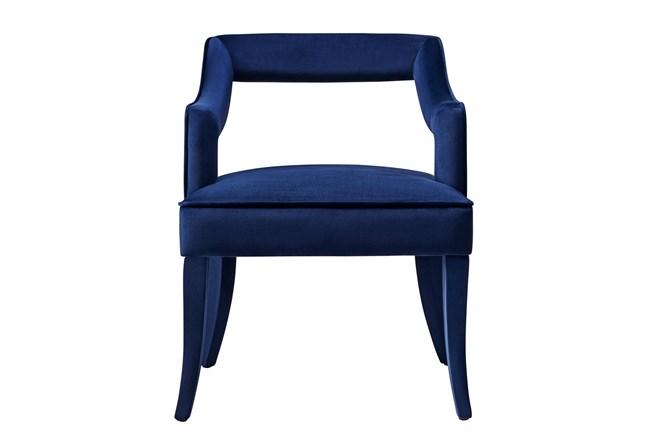 Natasha Navy Velvet Dining Chair - 360