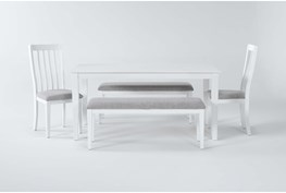 Gia 5 Piece Dining Set With 2 Benches