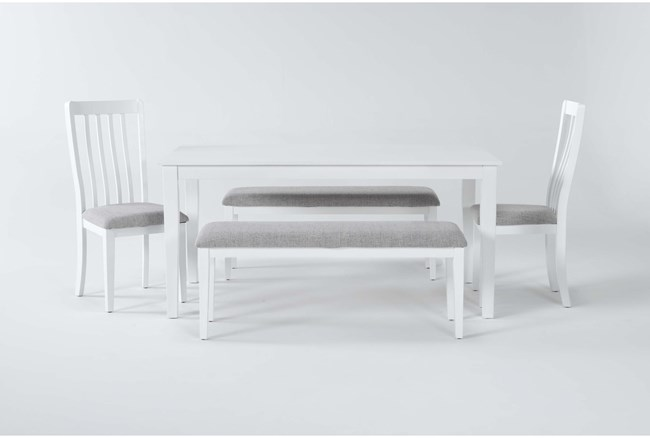 Gia 5 Piece Dining Set With 2 Benches - 360