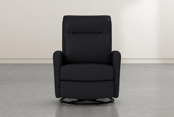 Dale IV Leather Power Swivel Glider Recliner