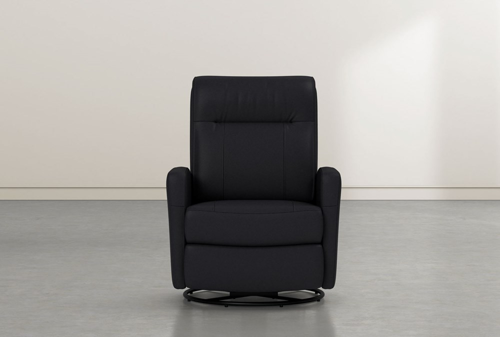 Dale IV Leather Power Swivel Glider Recliner With Power Headrest