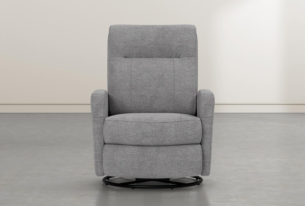 Dale IV Fabric Power Swivel Glider Recliner With Power Headrest