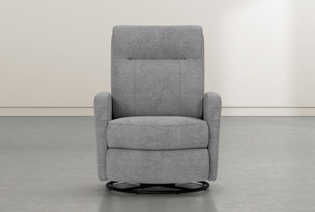 Dale IV Fabric Power Swivel Glider Recliner With Power Headrest - 360