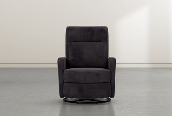 Dale IV Steel Fabric Power Swivel Glider Recliner With Power Headrest
