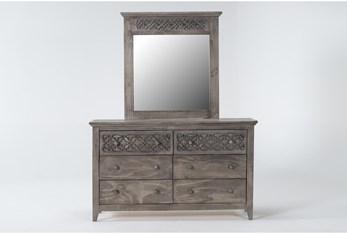 Jilian Granite Dresser/Mirror