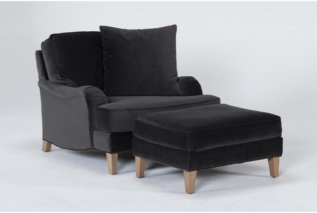Abigail IV Chair And Ottoman - 360