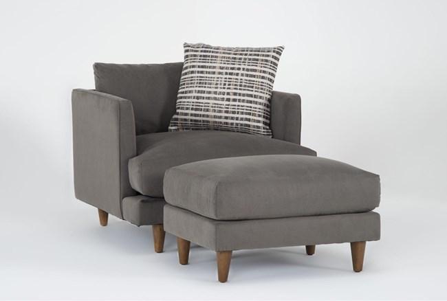 Adeline II Chair And Ottoman - 360