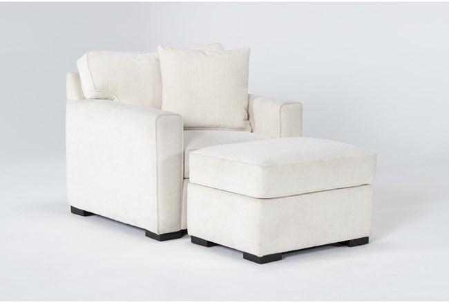 Cypress II Foam Chair And Ottoman - 360