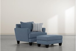 Elijah II Chair And Ottoman