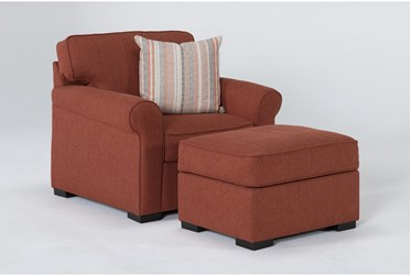 Elm II Down Chair And Ottoman