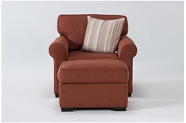 Elm II Down Chair And Ottoman