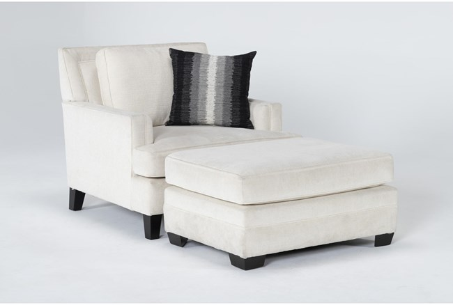 Madalyn Chair And Ottoman - 360