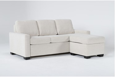 """Mackenzie Pearl 84"""" Queen Plus Sofa Sleeper With Reversible Storage Chaise"""