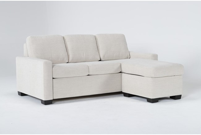 Mackenzie Pearl Queen Plus Sofa Sleeper With Reversible Storage Chaise - 360