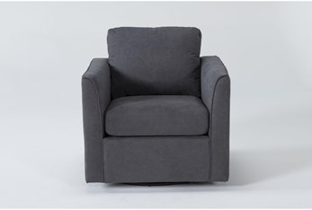 Aya Grey Swivel Chair
