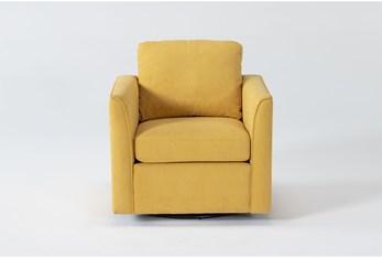 Aya Mustard Swivel Chair