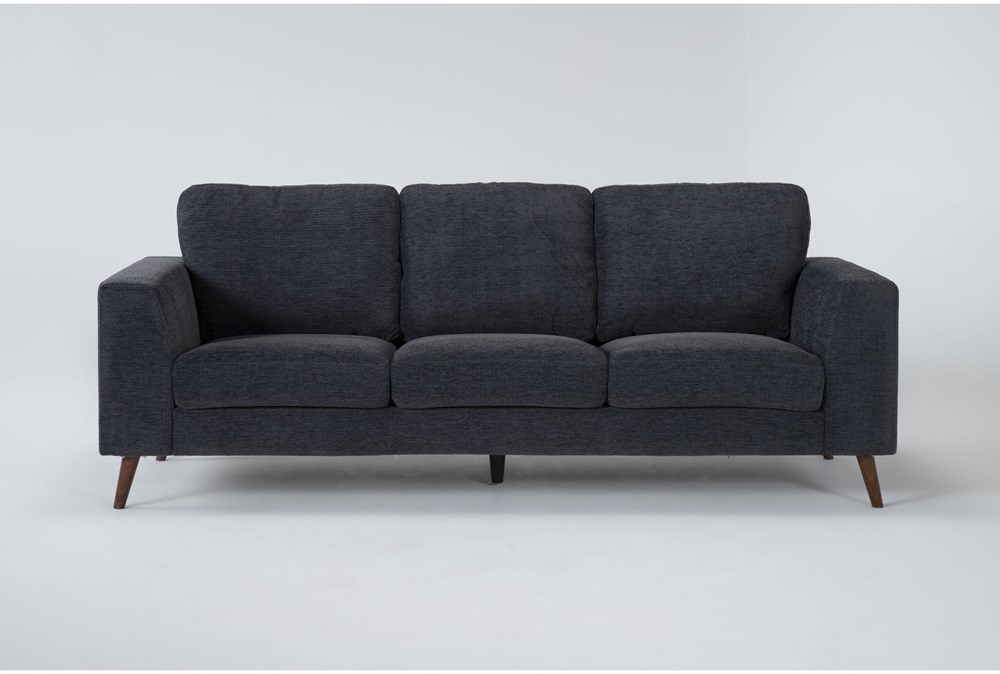 "Casper Charcoal Blue 88"" Sofa"